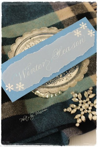 Winter Season Card with snow.