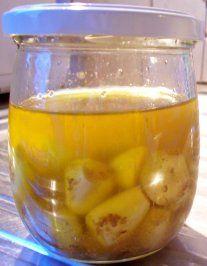 Rezept: Gewürz: Eingelegter Knoblauch in Olivenöl
