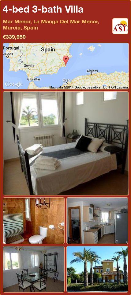 4-bed 3-bath Villa in Mar Menor, La Manga Del Mar Menor, Murcia, Spain ►€339,950 #PropertyForSaleInSpain