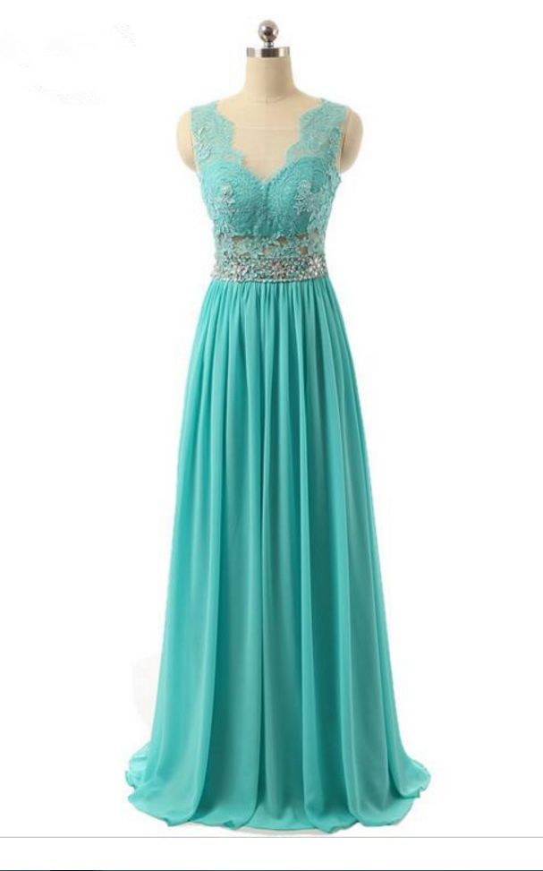 Turquoise Prom Dresses,Lace Prom Dresses,Evening Dresses ,Formal Women