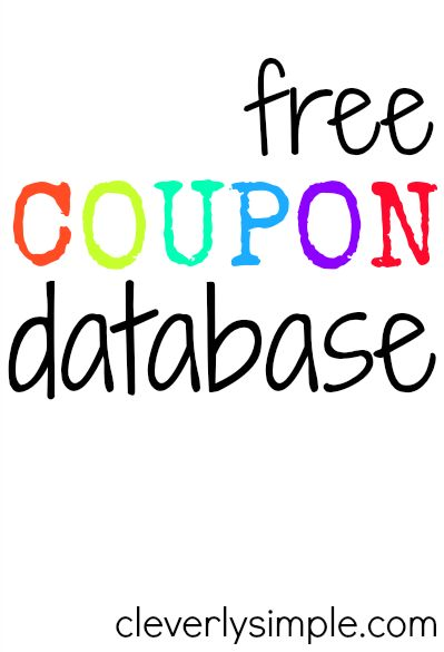 FREE! Over 5,500 coupons available!
