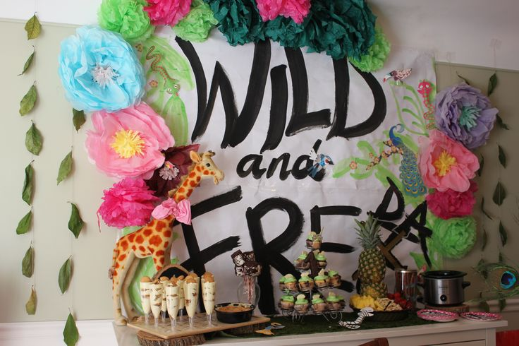 Wild and Free-da birthday party.  An animal spin on the Wild One idea so as to avoid tribal overtones.