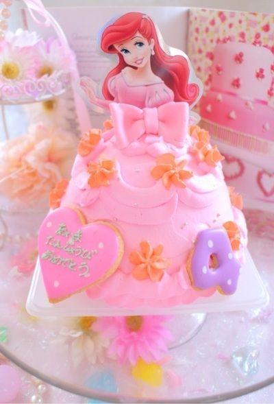 アリエルドールケーキ ポテトヘッド立体ケーキ アンパンマンケーキ アナ雪 キティちゃんケーキ