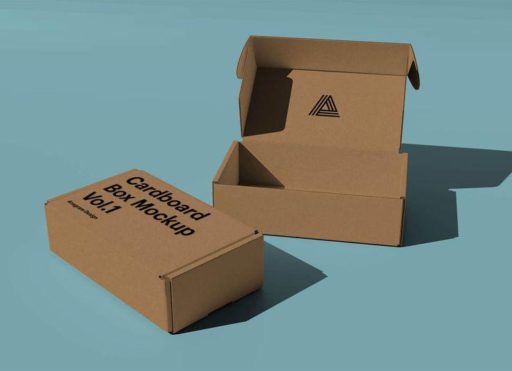 Download Free Kraft Corrugated Mailer Box Mockup PSD - Good Mockups ...