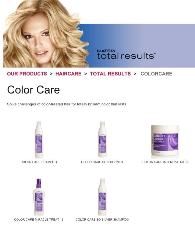 Matrix hair products