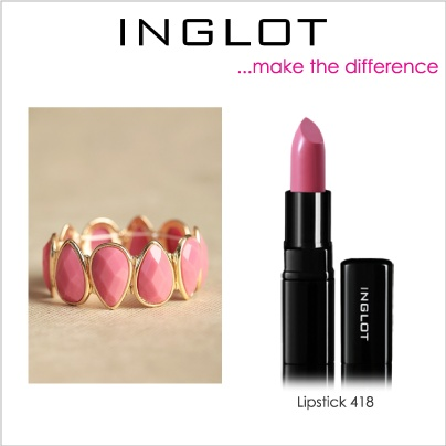 Set your pink bracelet with the unique pink of 418 lipstick!