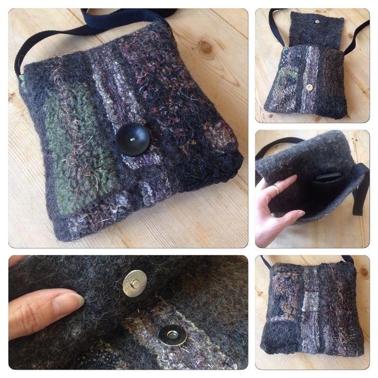 Nuno-felted bag.