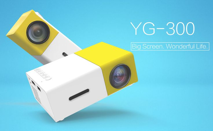 YG-300 LCD Mini Portable LED Projector Support 1080P 400 - 600 Lumens 320 x 240 Pixels Home Cinema