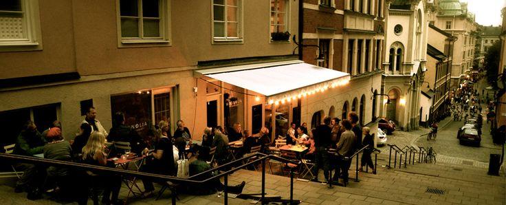 Magnolia, Södermalm. Skön stämning på uteserveringen i backen, intressant meny, god mat och trevlig personal.