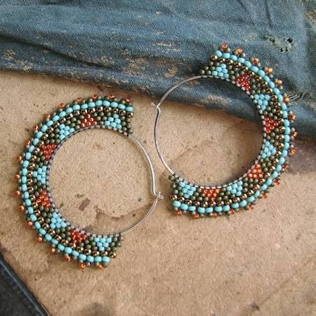patterns for bead woven earrings - Google Search