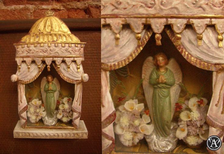 ANGEL DE LA GUARDA Miniatura Inspirada En El Arte