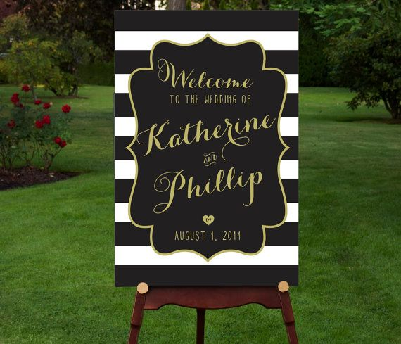 Etsy の PRINTABLE Large Custom Wedding Sign by RememberNovemberInc