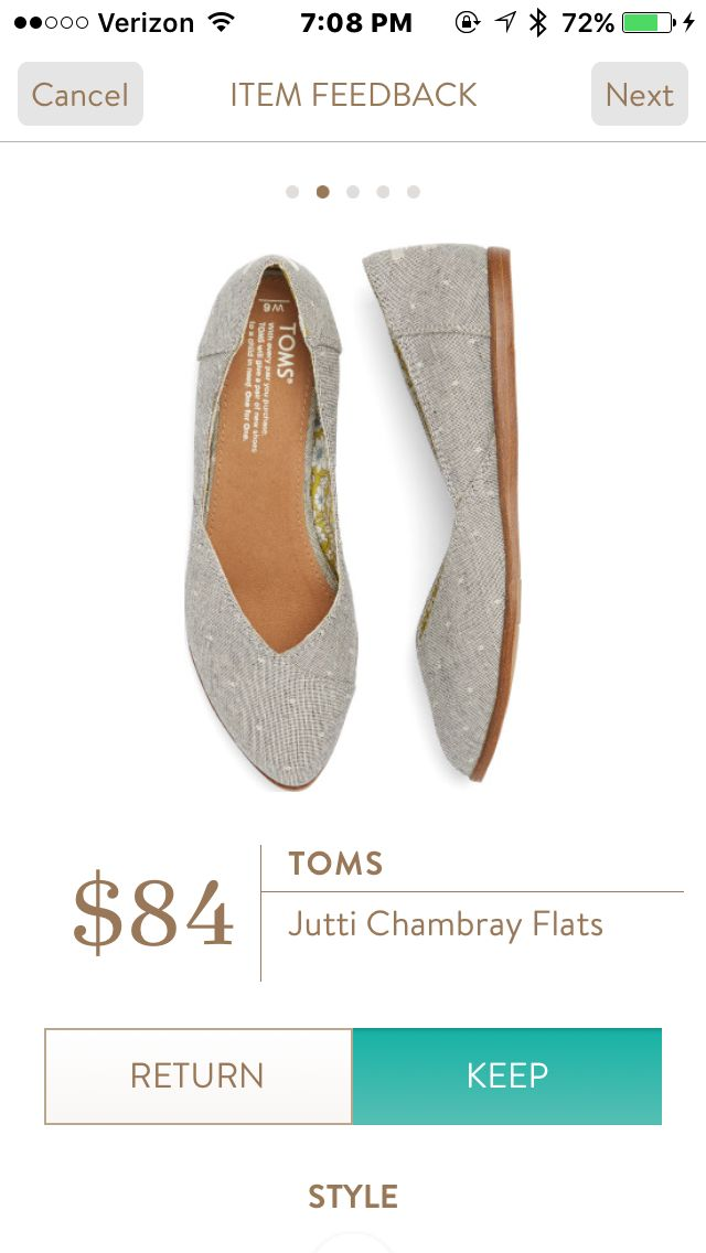 Stitch Fix Shoes! Tom chambray flats. Super cute and comfortable for a versatile pair of flats. 2017 Fashion trends. #Sponsored #Stitchfix