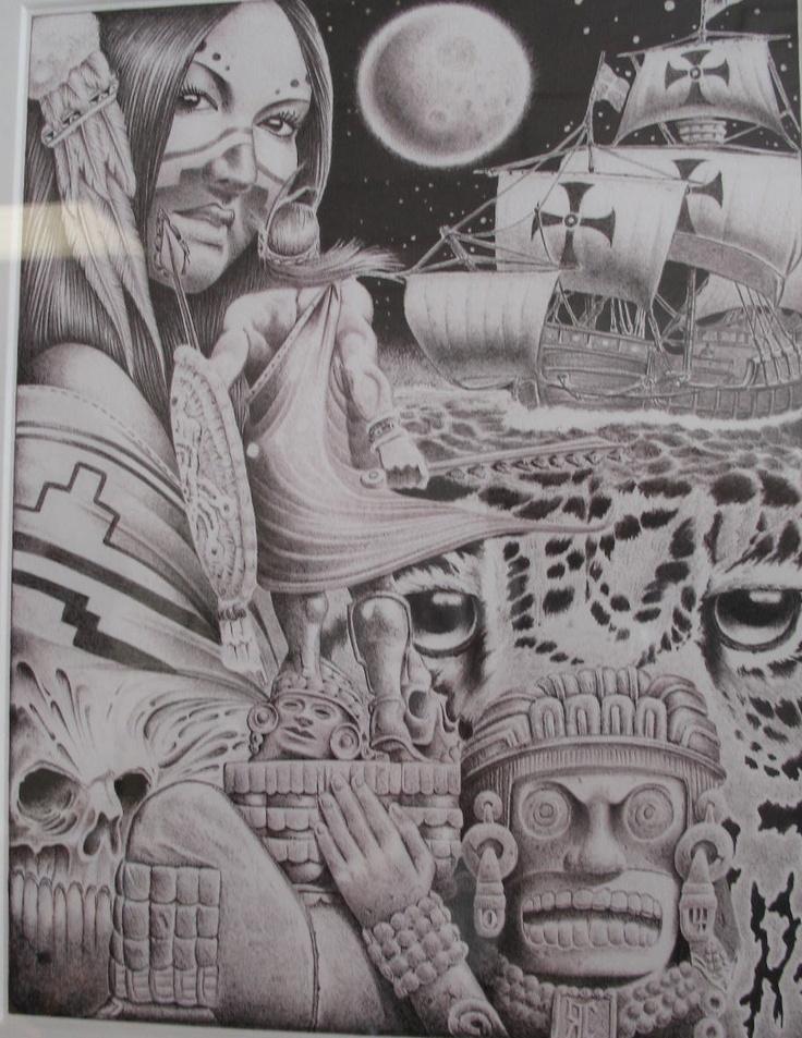 Mexican Aztec Art   Swapmeet Chronicles: Prison Arte Pelican Bay