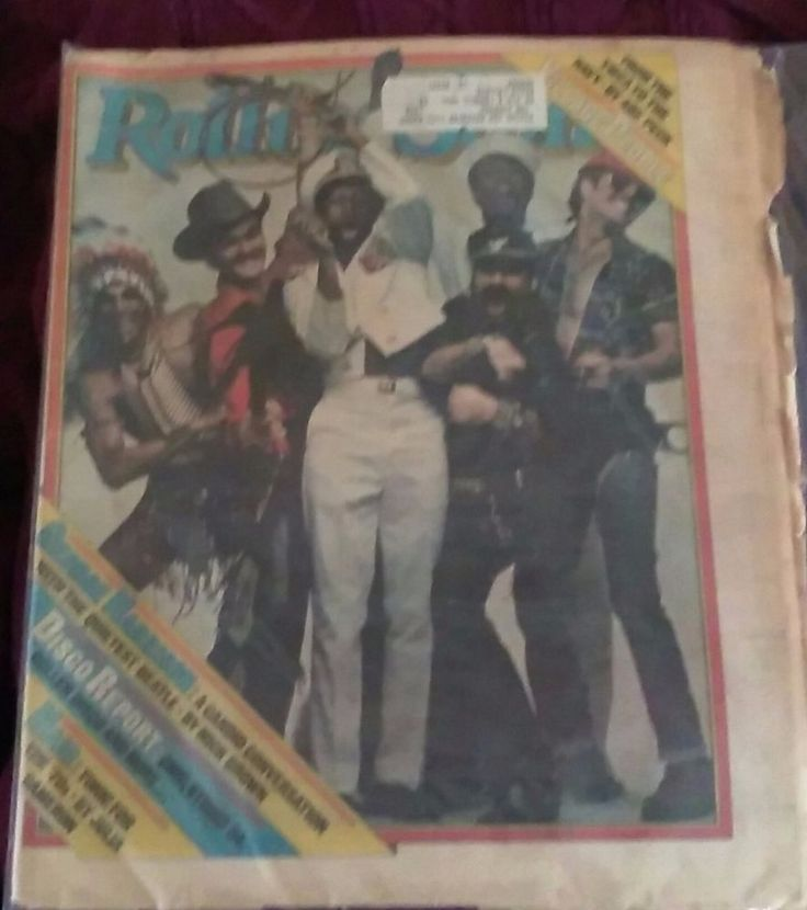 PAPER...1979 ROLLING STONES MAGAZINE Village People Cover...YMCA Issue NO # 289