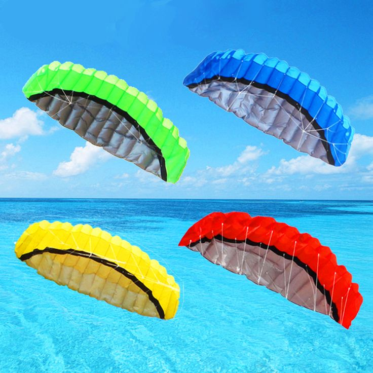 free shipping 2.5m dual line parafoil kite flying tools power braid sailing kiteboard outdoor toys sports beach parachute stunt
