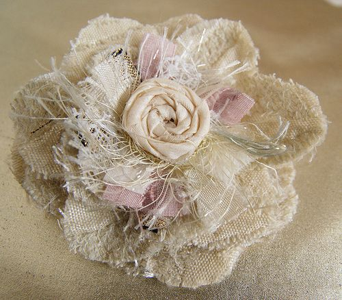 gorgeous shabby fabric flower