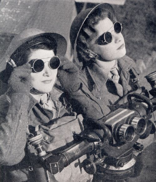 Women of the British Armed Forces circa 1930's. This is not dieselpunk; This is real life awesome.