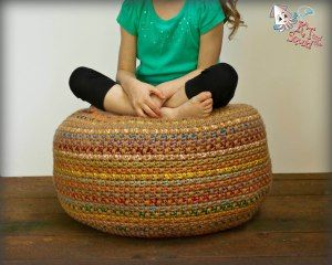 Stash Busting Monster Pouf: A Free Crochet Pattern   KT and theSquid