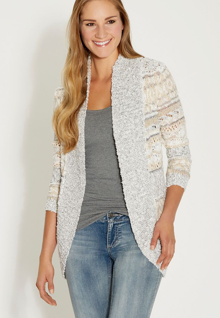 cardigan with shimmering sequins - maurices.com