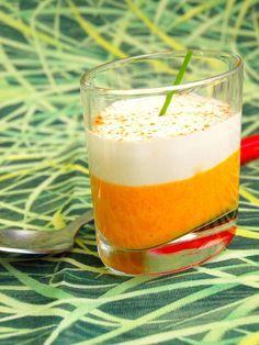Verrines de crème de carottes et mousse de chèvre - Les Délices De Marina