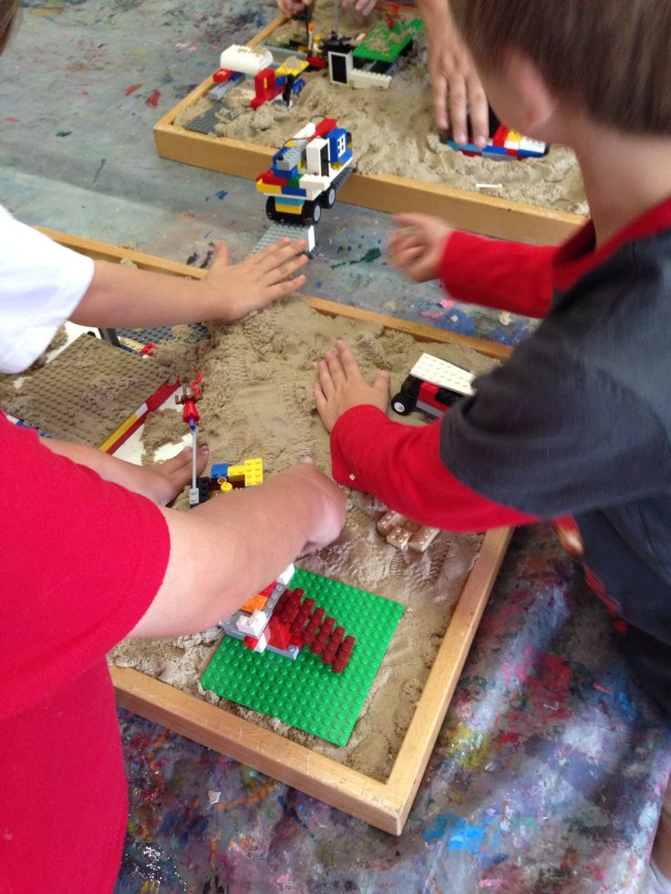 Kinetic sand and lego. A great school holiday combination.