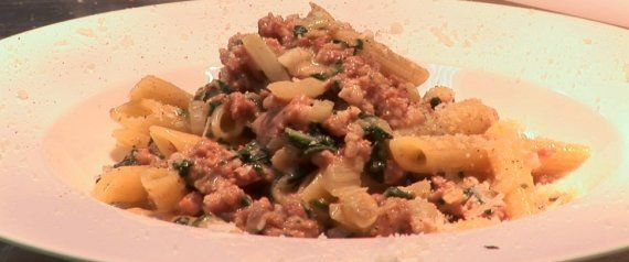 Recipe of the Week: Penne With Spicy Italian Sausage Swiss Chard and Chilli | Theo Randall