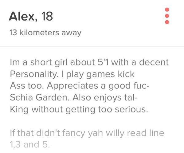 This girl, who worked very hard on her profile.