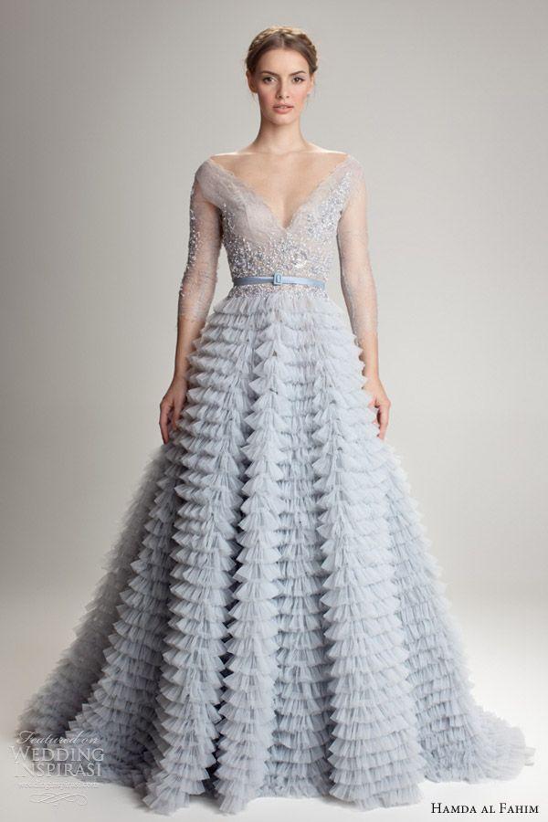 87 best Colored Wedding Dresses images on Pinterest | Wedding ...