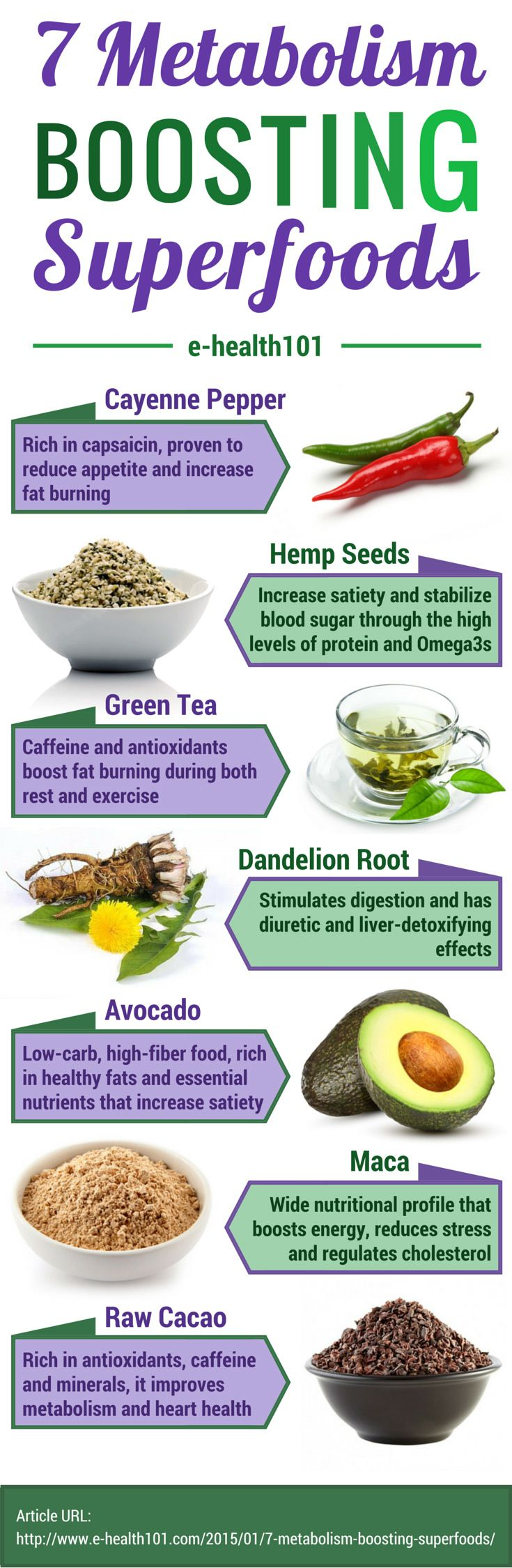 7 Metabolism Boosting Superfoods - These superfoods will boost your metabolism and help you shed those extra pounds faster! #superfoods #weightloss