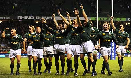 Rugby - South Africa celebrate after beating England at Twickenham - I HAVE TO SEE THIS BEFORE I DIE!!!