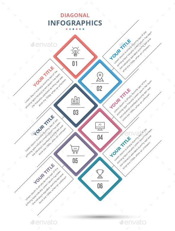 Modern Diagonal Infographics Template Vector EPS, AI Illustrator