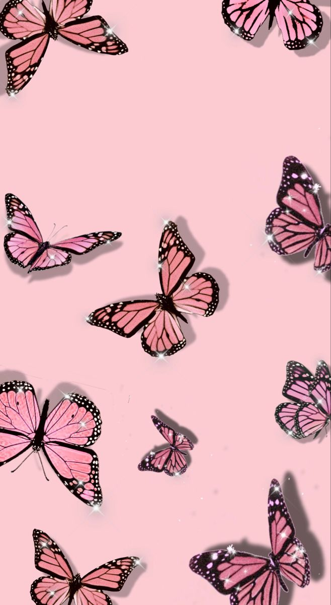 pink butterfly background in 2020 | Iphone wallpaper ...