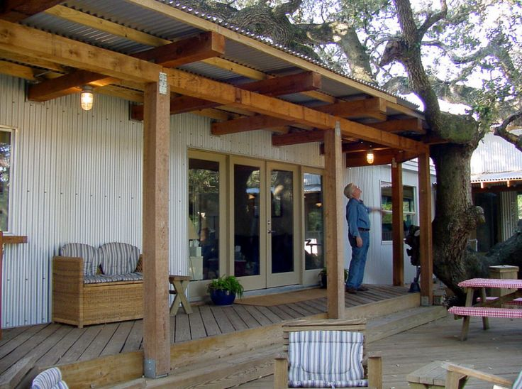 single wide trailer remodel porch - I love all the materials (inside and out) used for this remodeling