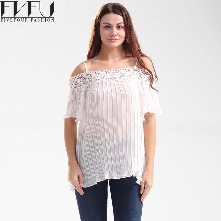 Fashion 2017 Blouse Shirt Women Summer Style White Chiffon Blouse Shirt Women Strap Off Shoulder Tops Casual Blouses Plus Size #Affiliate