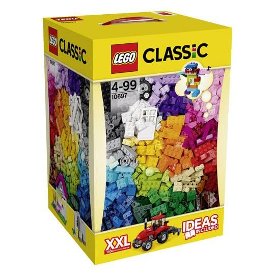 LEGO Classic 10697-XXXL Large Creative Box, BRAND NEW, SPECIAL EXCLUSIVE ITEM  Age: 4+ With 1.500 PCs 39 assorted colors Year Released: 2015