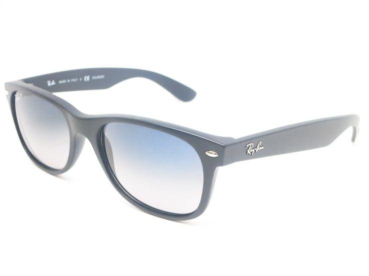black polarized ray ban wayfarer of4p  Ray-Ban RB 2132 New Wayfarer 601S/78 Matte Black Polarized Sunglasses