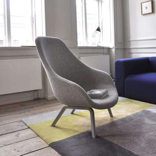 ...gread, would like two of these Hay about a loung chair: http://hay.dk/#/site/products/arm-chairs-sofas/aal