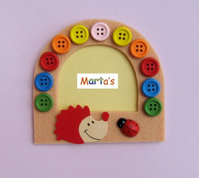 felt fridge magnet as photo frame (with Jelena P)