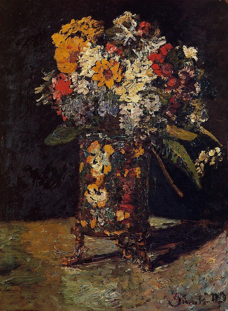 Bouquet of Flowers - Adolphe Joseph Thomas Monticelli