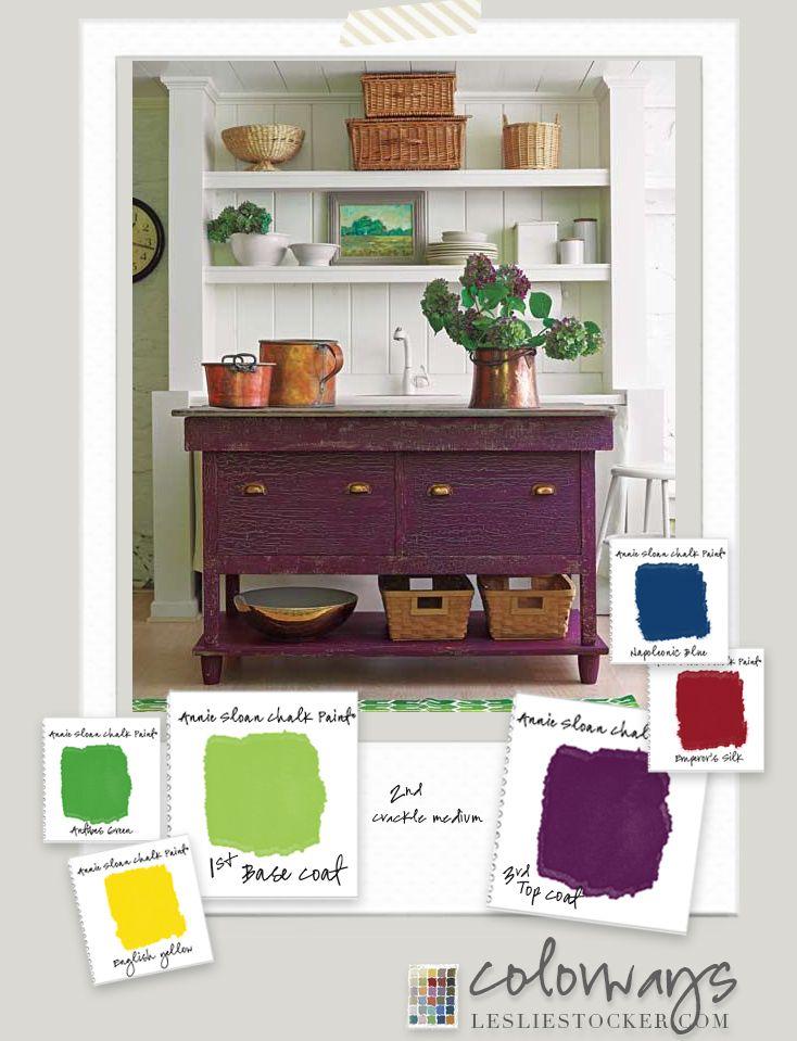 colorways crackle medium custom purple and lime green annie sloan chalk paint napoleonic blue. Black Bedroom Furniture Sets. Home Design Ideas