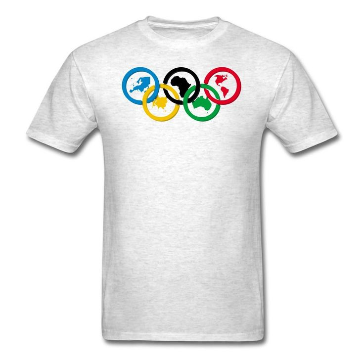MOYI Men's World's Famous Olympic Games Rings Shirt Gray Xxxx-large. 100% Cotton. Simple And Easy, High Quality. Well Image And Exllent Printed Technology. A Series2016 RIo Olympic Games Logo Products. Great Shirt And High Print Quality.