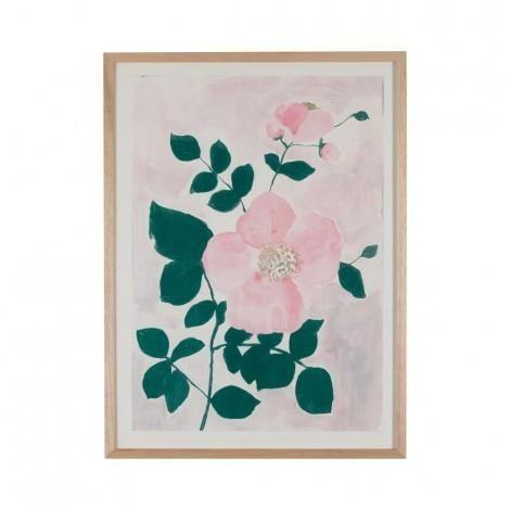 Tea Rose Print in Pink | Bonnie & Neil – Salt Living or online at www.saltliving.com.au #saltliving #bonnieandneil #screenprinting #linen #handmade #print #art