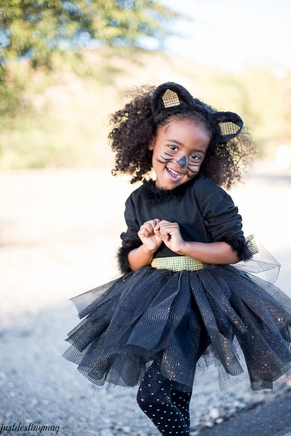 Easy DIY Childs Cat Halloween Costumes  -  @JustDestiny #MichaelsMakers
