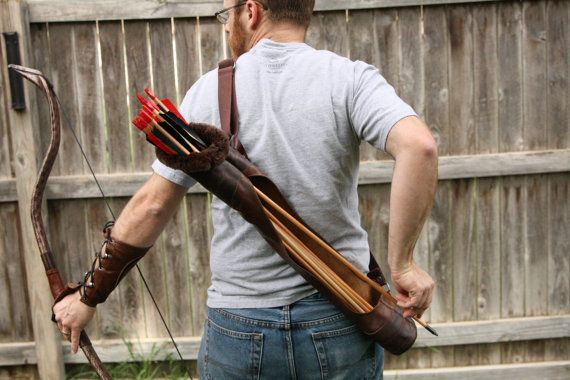 Hey, I found this really awesome Etsy listing at https://www.etsy.com/listing/202017827/large-brown-two-tone-leather-quiver-fur