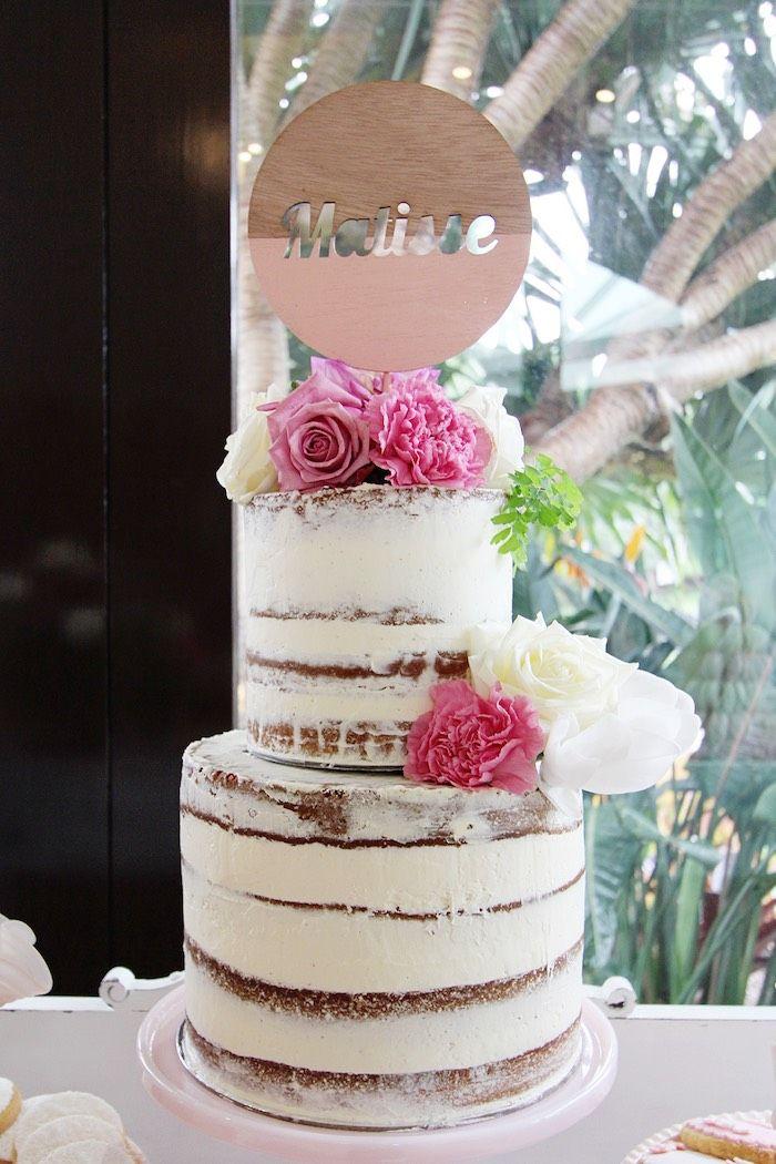 Pretty in Pink Baptism Dessert Table via Kara's Party Ideas | KarasPartyIdeas.com (11)