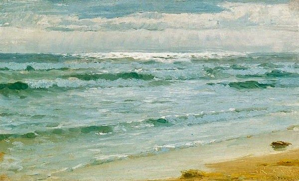 Peder Severin Krøyer - Danish painter, 1851-1909: Mar en Skagen