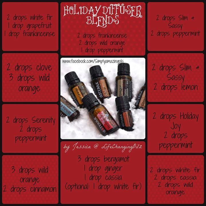 Holiday diffuser blends Essential Oils Daily mydoterra.com/eosdaily FB: doTerraEOsDaily
