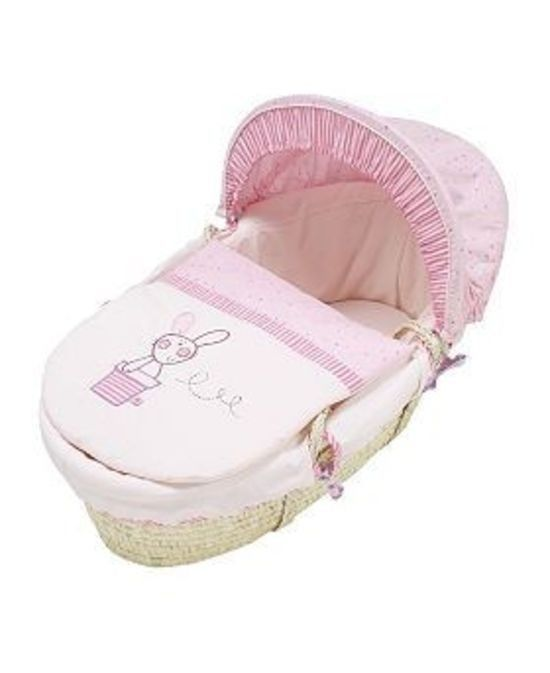 A simple and natural first bed for your baby. Because the Moses basket design is compact with built in carry handles it is a great portable option when on the move.  Available at babies.co.nz