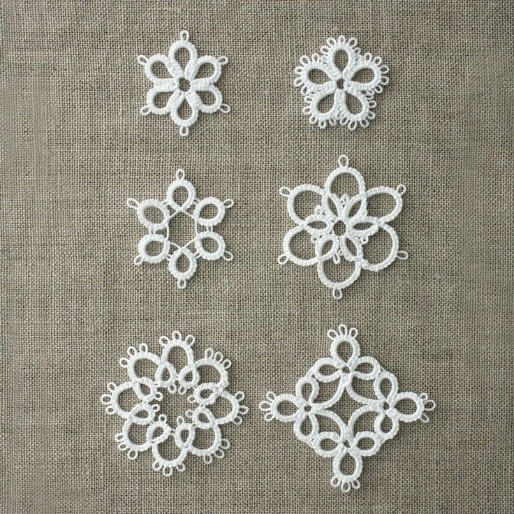 Free Tatting Patterns Beginners | Tatting Lace 6 Patterns for The Beginner Type2 Japan Clover Motif ...